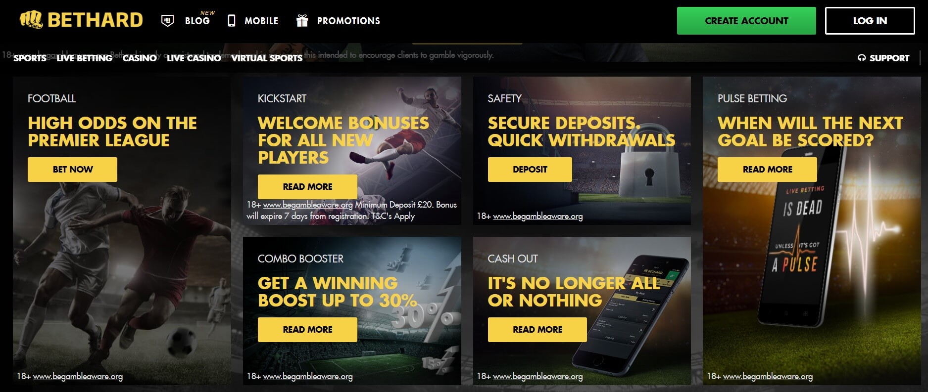 bethard sports betting bonuses