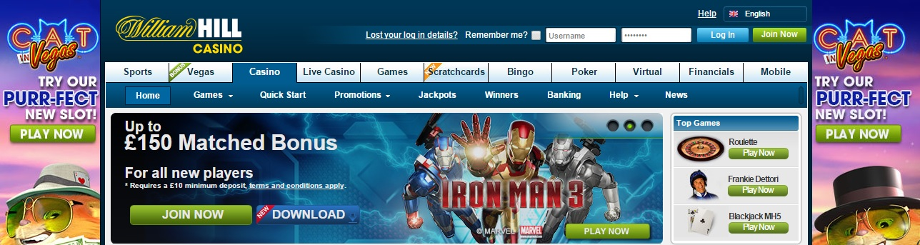 online william hill casino book of magic