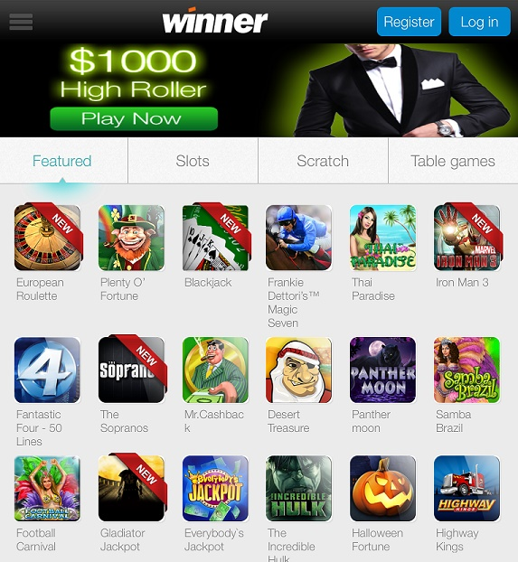 winner casino customer support