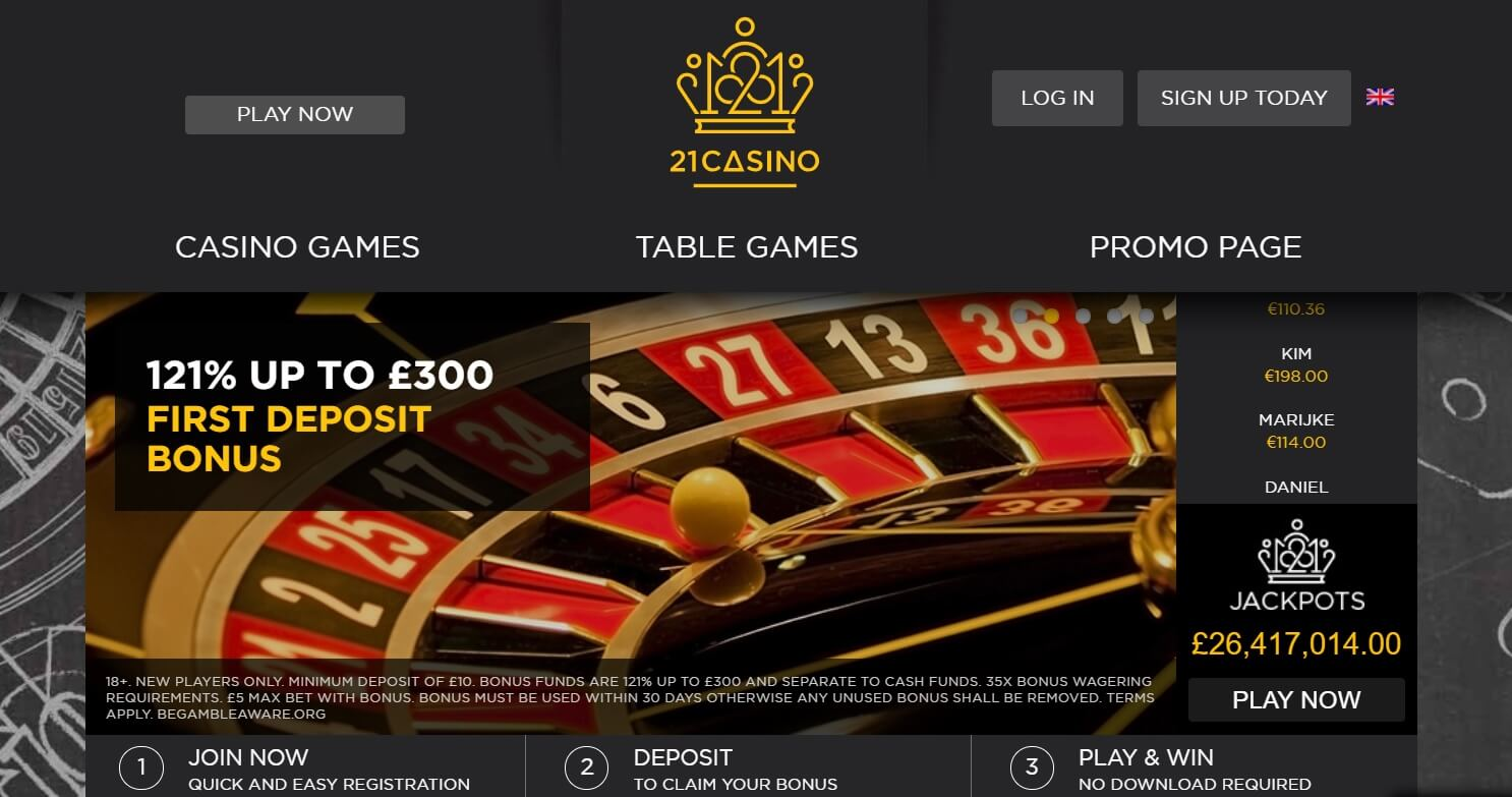 21 com casino review