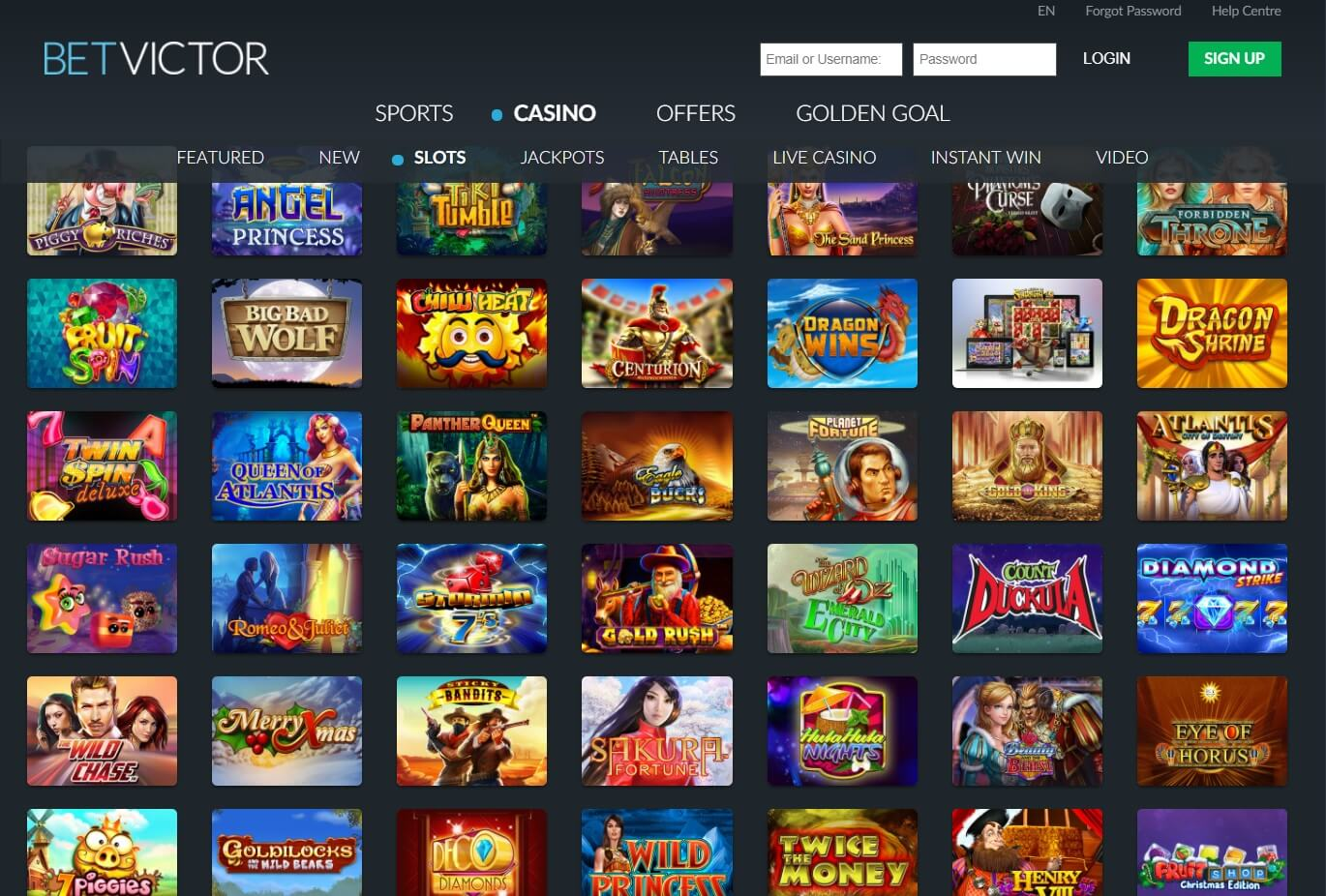 betvictor casino games and slots
