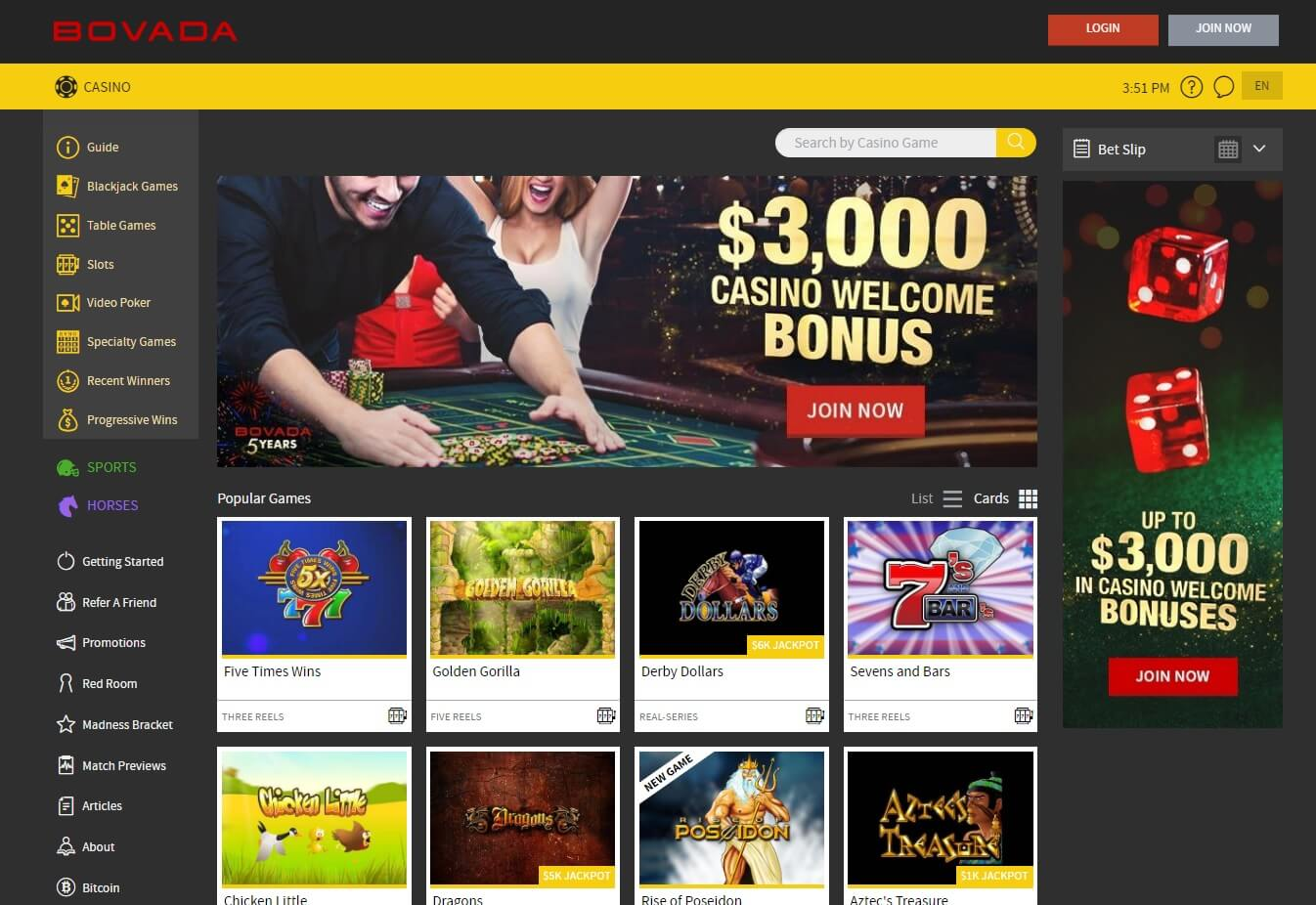 bovada casino games slots usa