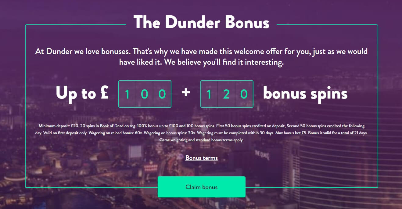 dunder bonus uk new