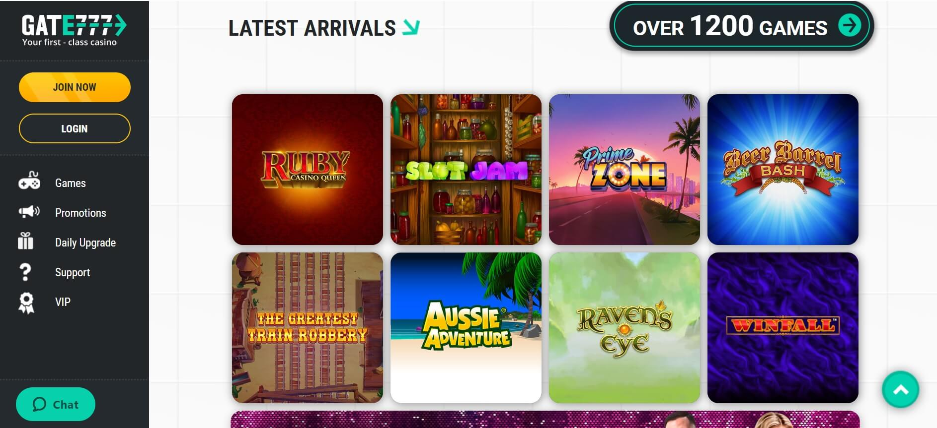 gate 777 online casino games