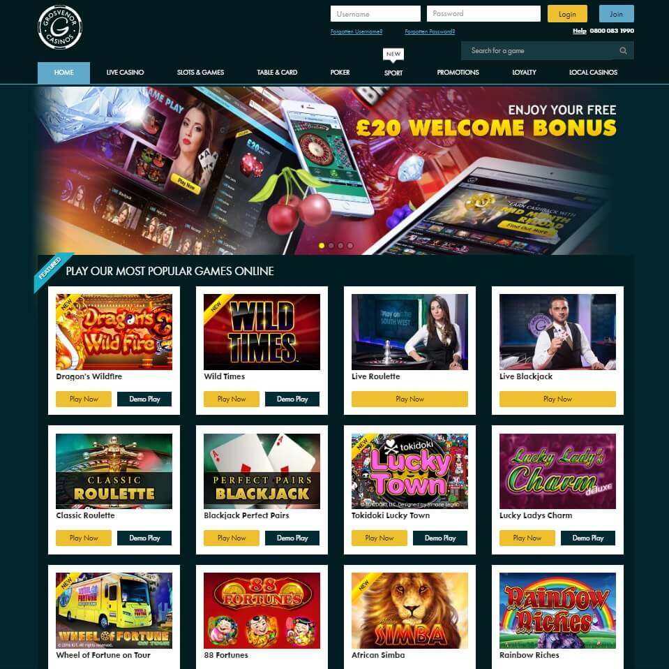 all slots grosvenor casino