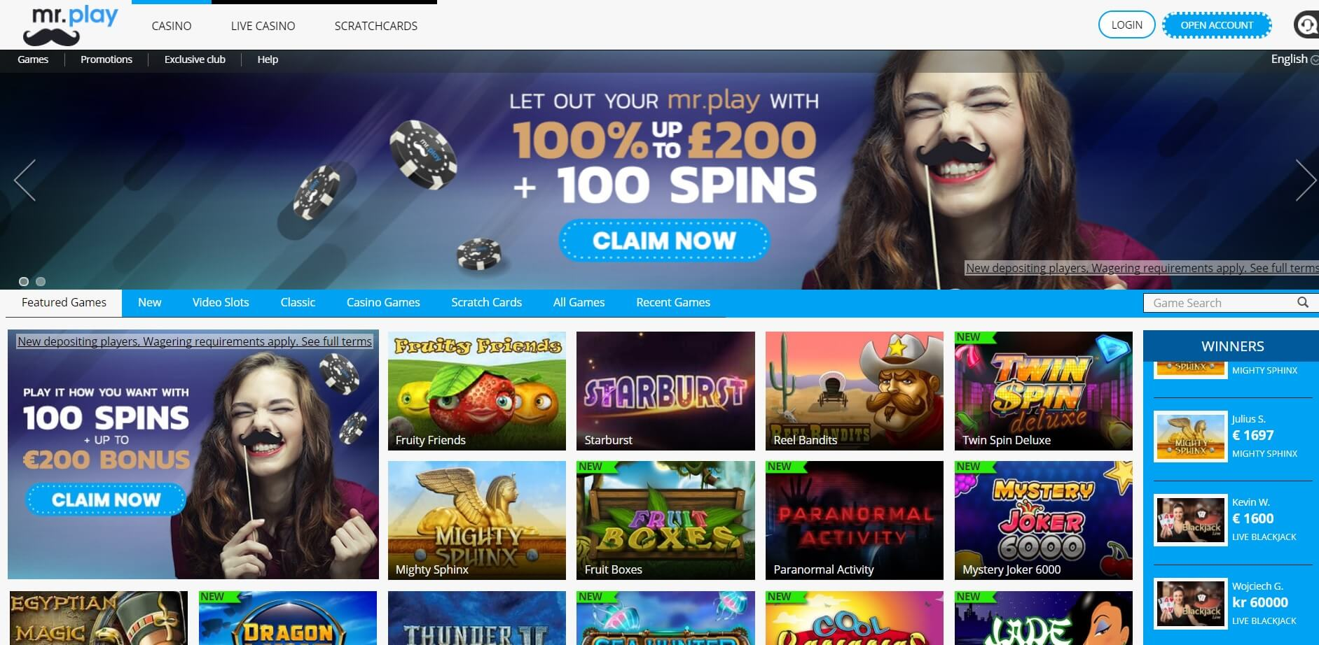 mrplay casino games