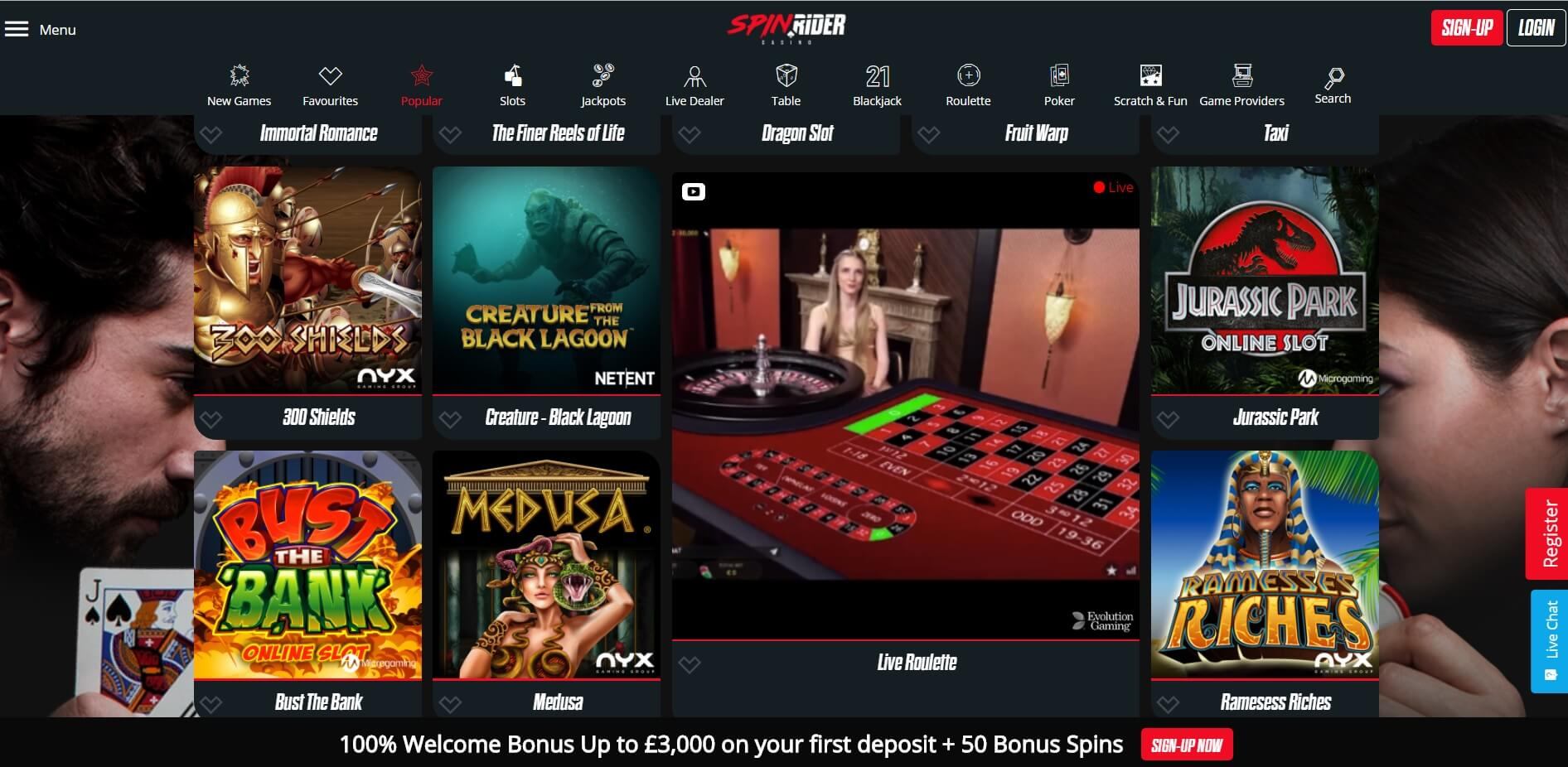spinrider casino games