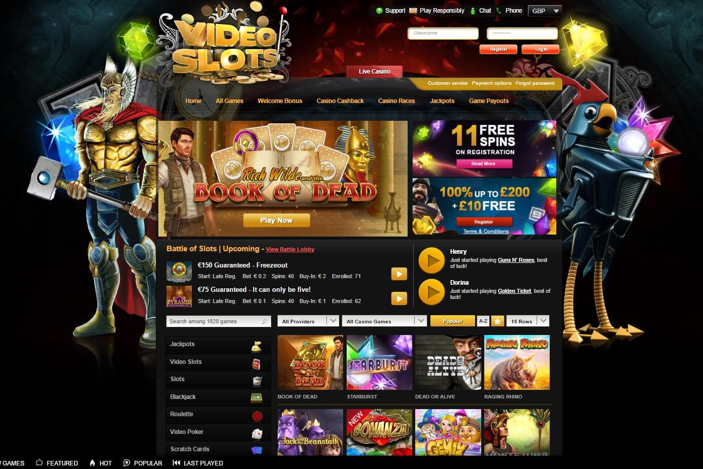 video slots bonus games