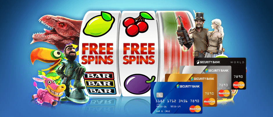 free spins on register bank card