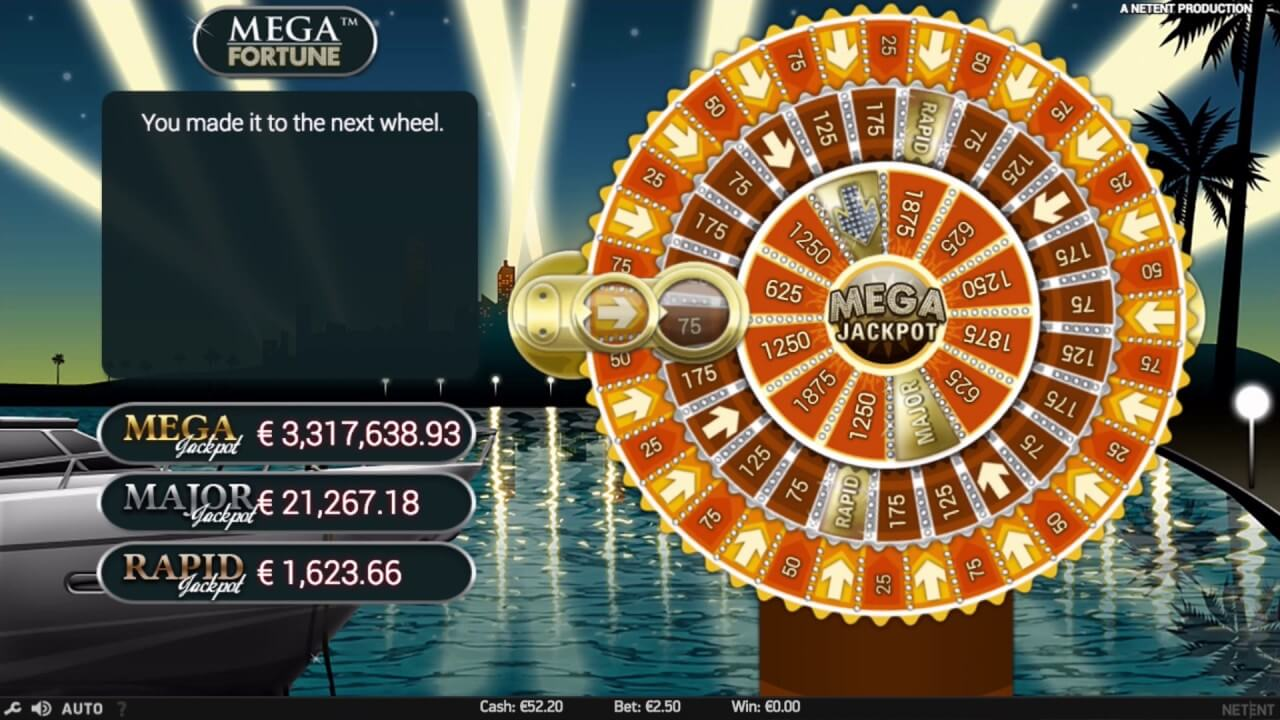 mega fortune slot bonus wheel