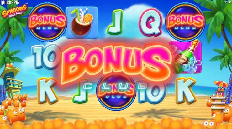 spinions beach party mobile slot