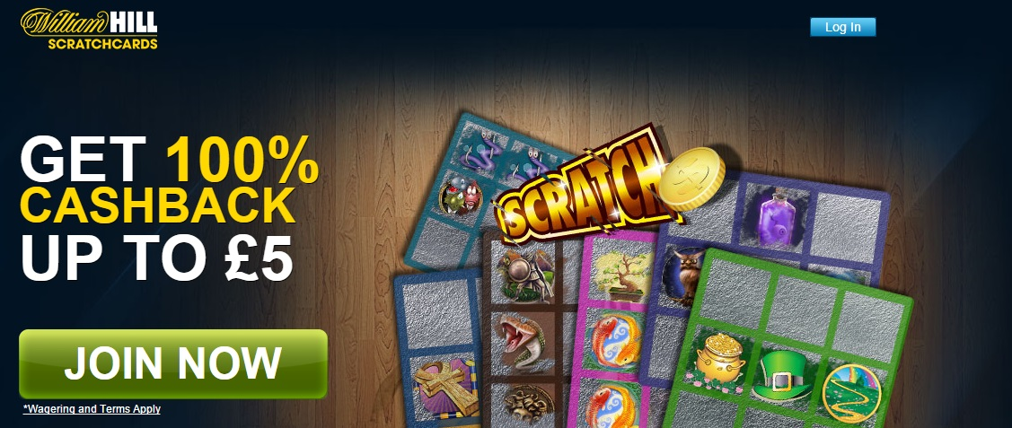 william hill online scratchcards bonus cashback