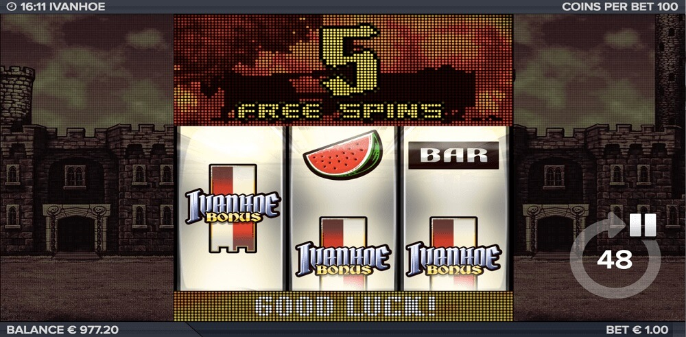 ivanhoe slot machine online