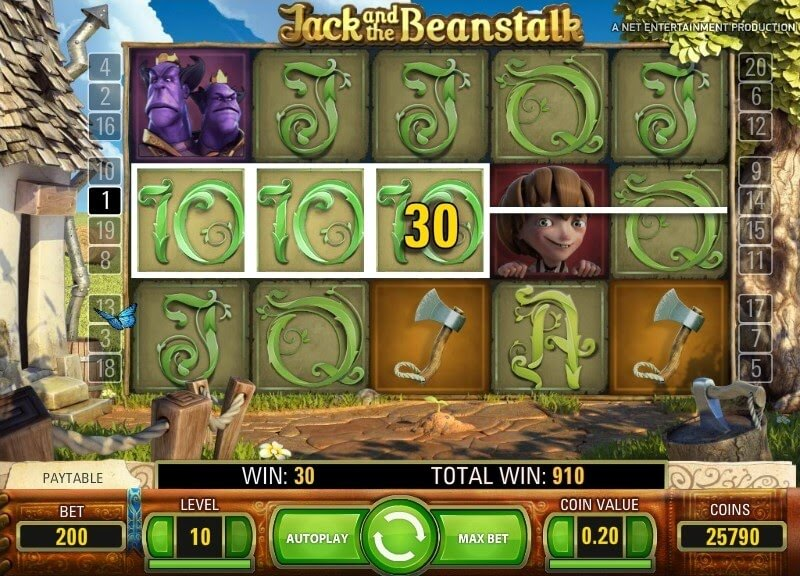 netent jack and the beanstalk casino