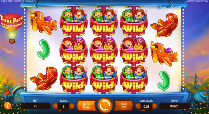 theme park tickets to fortune slot