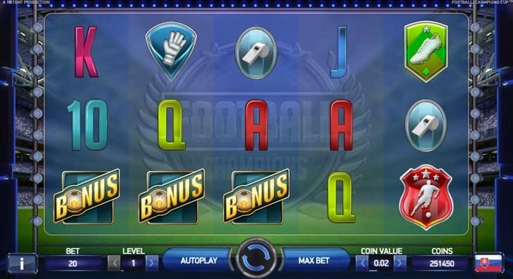 netent football championships slot review