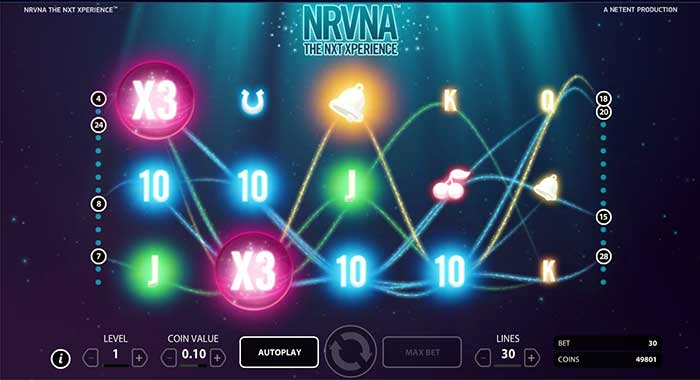 NRVNA The Nxt Xperience Slots - Play this Video Slot Online