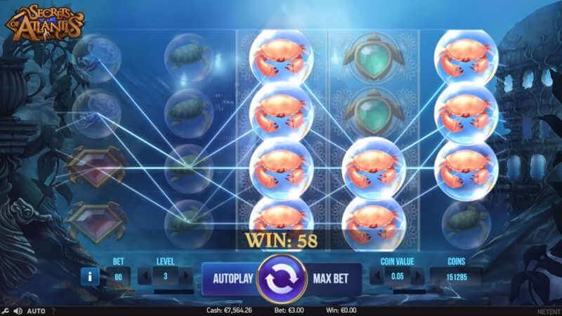secrets of atlantis slot netent