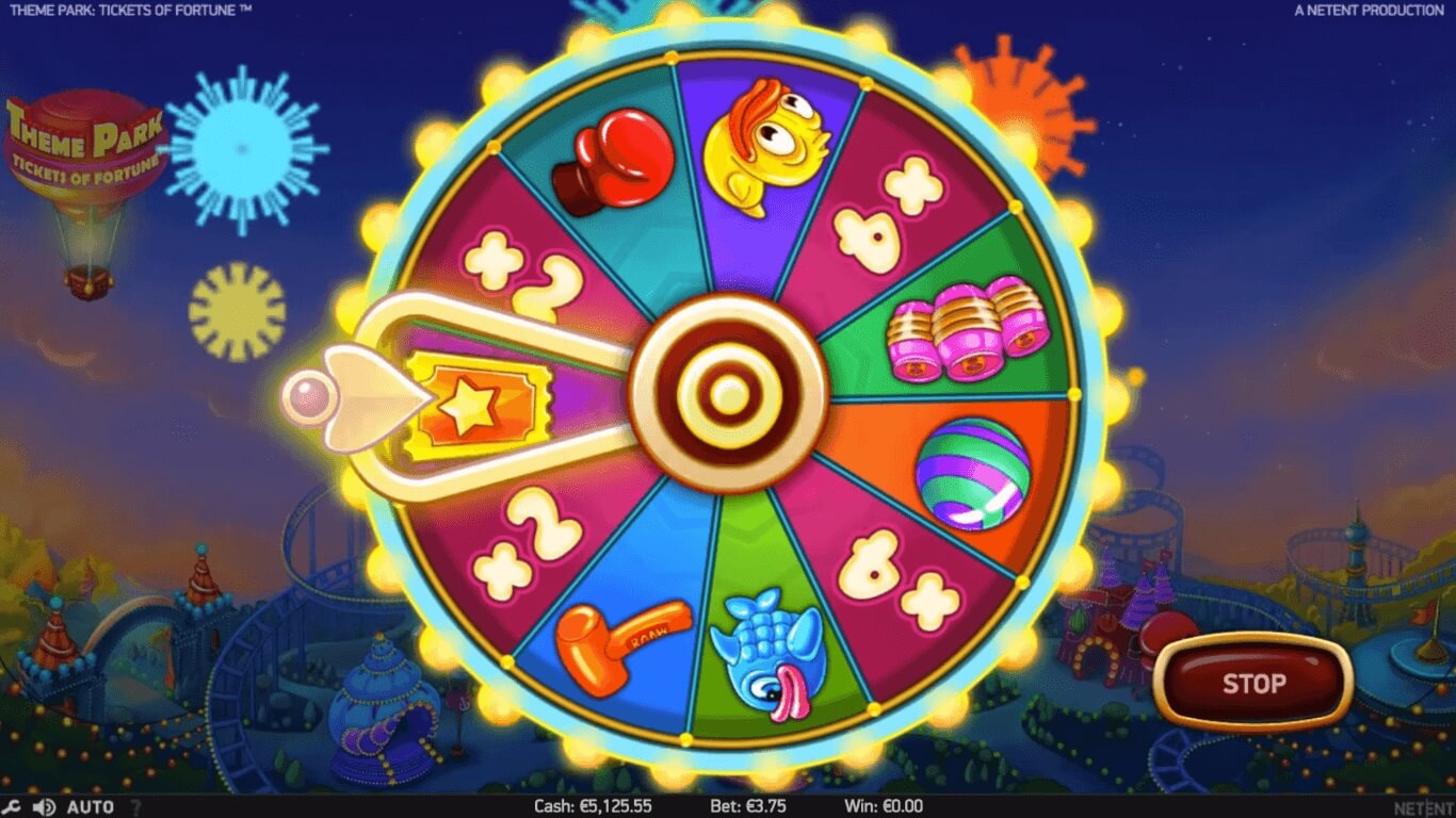 themepark tickets to fortune slot bonus wheel