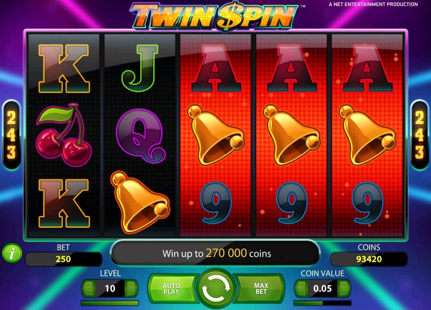 twin spin slot twin reels big win