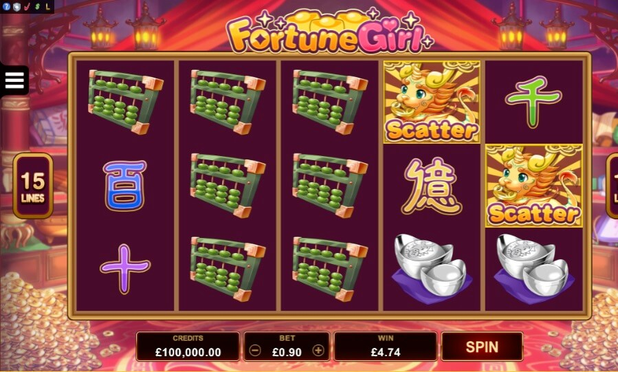 fortune girl slots free spins