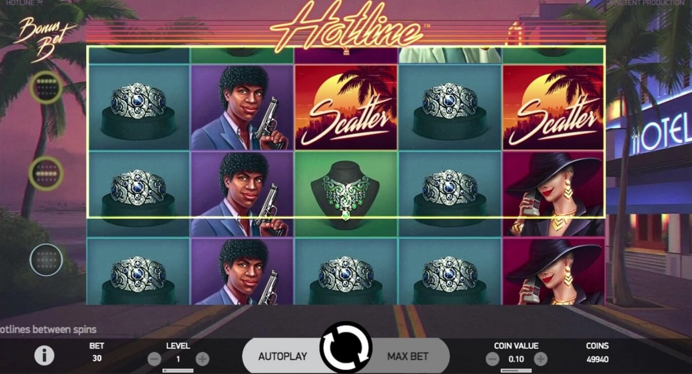 hotline slot screenshot how to play