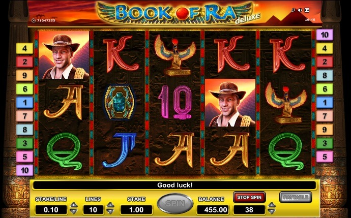 best online casino slot machine book of ra free