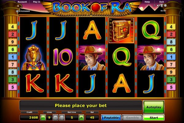 play online casino free slot book of ra