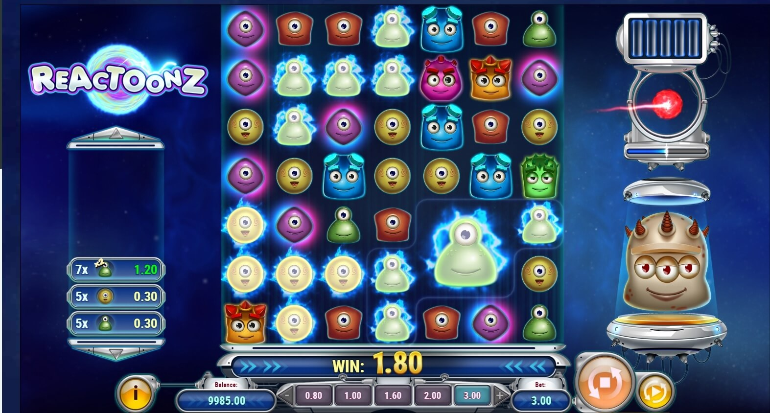 reactoonz slot review all gambling sites