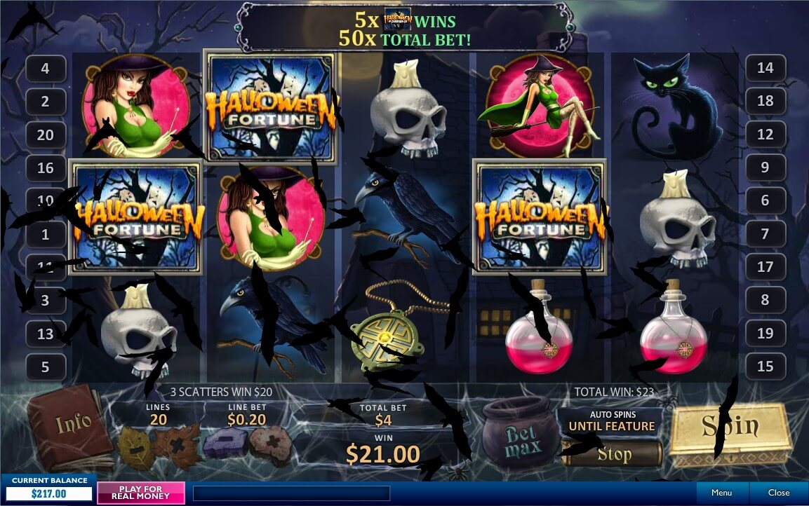 halloween fortune slot playtech