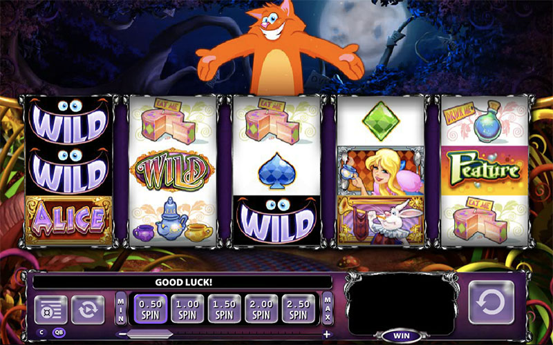 alice and the mad tea party online slot