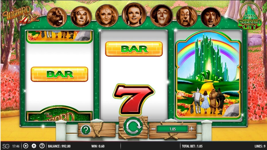 wms slots wizard of oz the road to emerald city